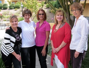 LInda Lee, Kate Farrell, Frances Caballo,  Sherry Nadworny, Jane Glendinning