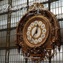 Large Clock: Protect & Defend Take Care of Your Time