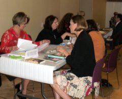 Georgia Hughes & KJ Landis discussing publication
