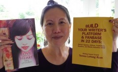 Writers-Coach-Teresa-LeYung-Ryan-says-Reach-Out-not-stress-out-photo-by-author-Lynn-Scott-Copy