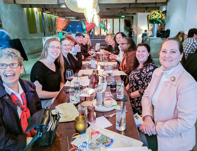 Women, Wine and Books: 2017 Spring Mixer Urban Tavern Table 2