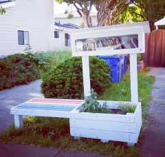 Little Free Library with bench (Berkeley)
